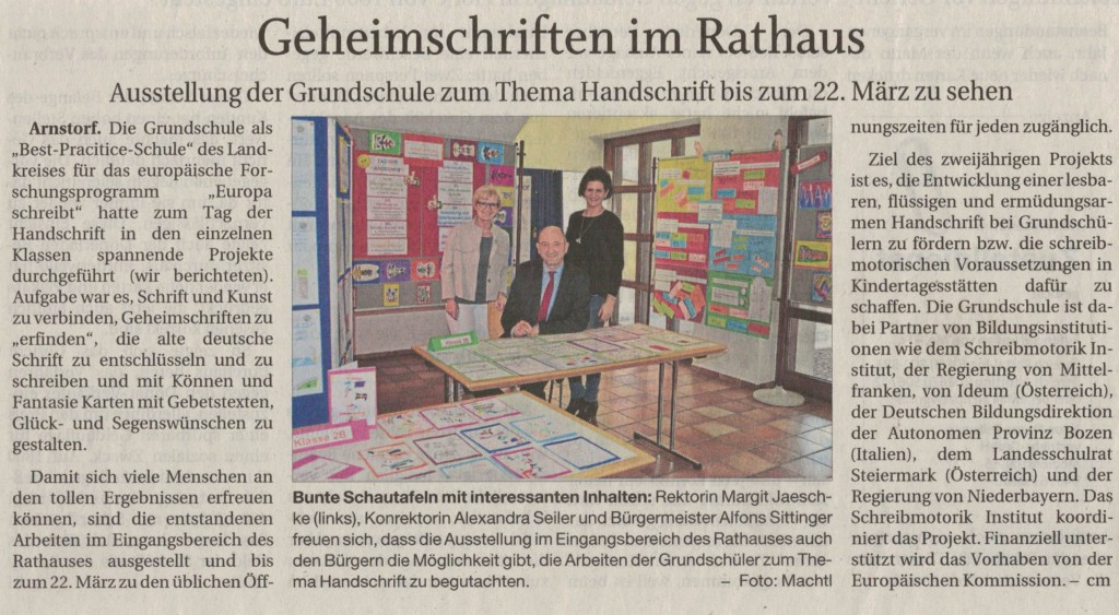 2019_02_18 Geheimschriften im Rathaus- Ausstellung zum Tag der Handschrift PNP-Artikel19032019